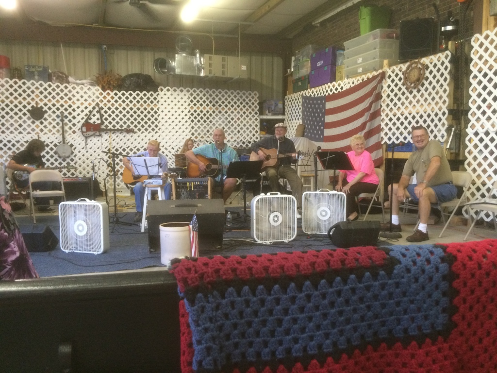 Live music in a gas station in Belhaven.
