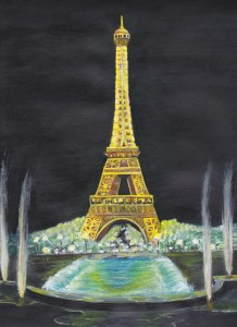 Eiffel Tower (acrylic)
